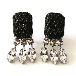 gentleman _  black pierce / earring