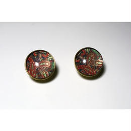 paisley _ red pierced / earring
