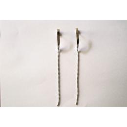 twist chain _  silver pierce / earring