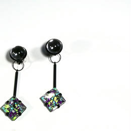 paint furiko _ purple x clear pierced / earrings