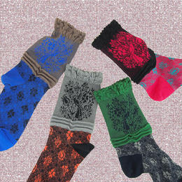 【nonnette】Flower garden  Socks NS206Y- 4 color