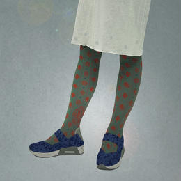 【nonnette】Garden with bird Tights NT102T- 4color