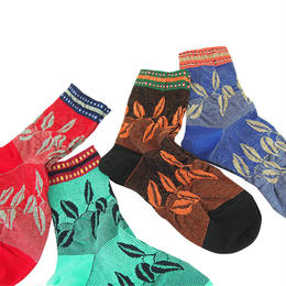 【nonnette】Dancing  leaves  Socks NS203Y- 4 color