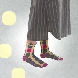 【nonnette】Protrusion  Socks NS190M- 4 color