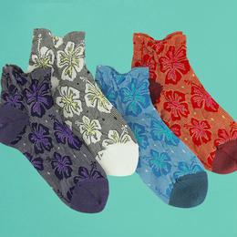 【nonnette】Hibiscus Socks NS192T- 4 color