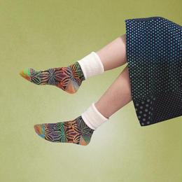 【nonnette】Stunning road  Socks NS202Y- 4color