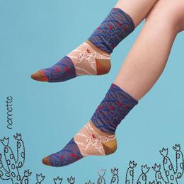 【nonnette】Cactus Socks NS187T