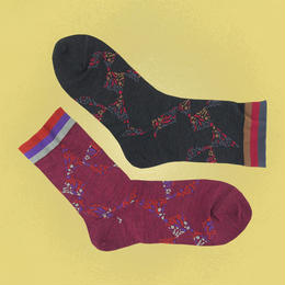 【nonnette】Kaleidoscope silk  Socks NS207A- 2 color