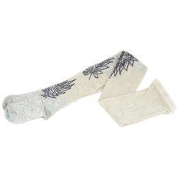 【nonnette】Leaf point Tights  NT091T- 91/light gray
