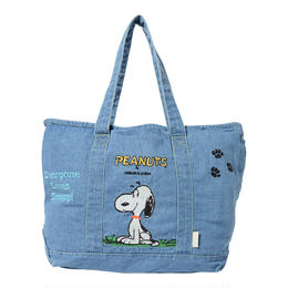 【SNOOPY×VOYAGES】デニムトートバッグ大(05264902)