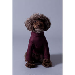 Bordeaux Wool  High Neck Knit Long Sleeve < SS ~ S/M >