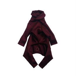 Bordeaux Wool Knit Rompers <SS ~ S>