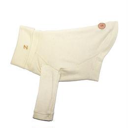 Organic  Cotton Long Sleeve High Neck T-shirt  <M ~ M/L size>