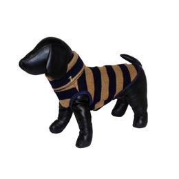 Stripe Wool Knit High Neck Tank Top Navy × Beige < SS ~  S/M >