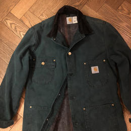 "80~90's ""Carhartt"" Duck Chore Coat USA製 サイプレスグリーン"