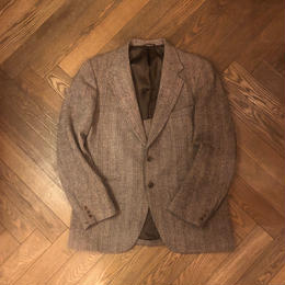 "80's  ""Harris Tweed"" Tailored Collar Jacket"
