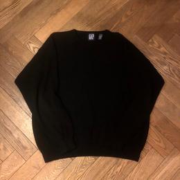 "90's  ""OLD GAP"" Cotton Knit Black"