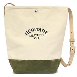 """""""NEW""""  HERITAGE LEATHER CO.  BUCKET SHOULDER BAG"""