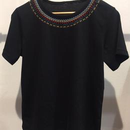 刺繍Tee black