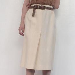 1970's tight skirt white