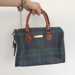 1990's Ralph Lauren BlackWatch Boston Bag