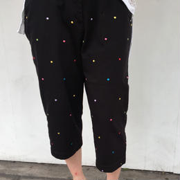 dot pants black