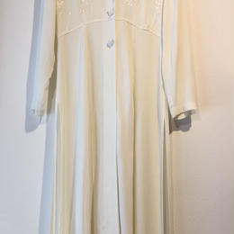 1980's white one-piece gown