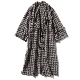 GEOMETRY JACGUARD COAT GOWN【WOMENS】