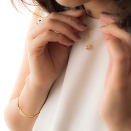 14kgf metal plate Short Necklace