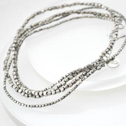 2Way Oxidized Silver Necklace