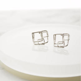 Square Motif Pierce(Silver)