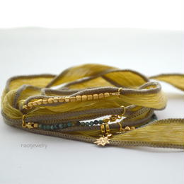 Silk Ribbon Bracelet(khaki)