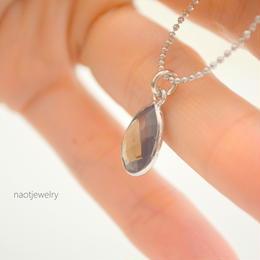 Frame stone Smoky Quartz Necklace