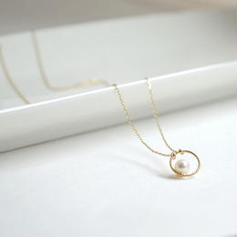 k10 Circle pearl Necklace