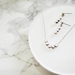 Metal Cut Silver Beads Set(matte silver)