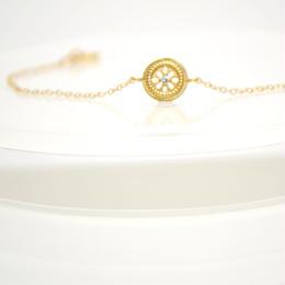 14kgf Flower Round Bracelet