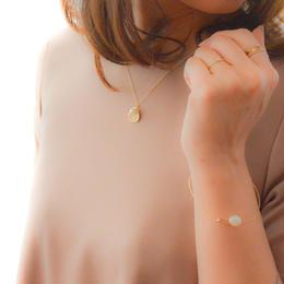 Flower Petal Cotton Pearl Necklace