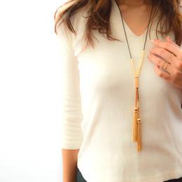 Gold Tassel Necklace