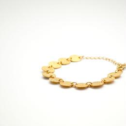 Circle Brass Plate Bracelet