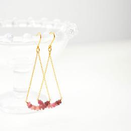 Pink Tourmaline chain Pierce(14kgf)