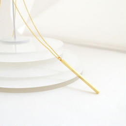 Long Bar Necklace(Gold)