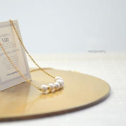 White Pearl Necklace 14KGF