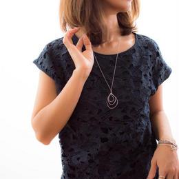 Silver Drop Long Necklace