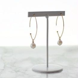 K18 Marquis Hoop Pierce(sizeM)&Akoya pearl set