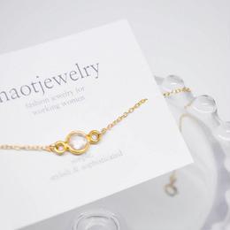 14KGF Rose quartz (Gold Vermeil) Bracelet