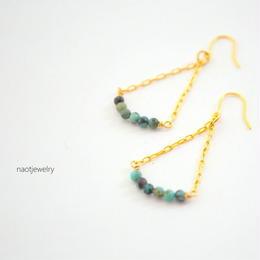 Turquoise chain Pierce