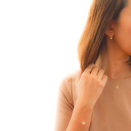 Drop Zirconia Pierce/Earring