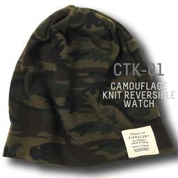 CTK-01  カモ柄ニットBIGWATCH  グリーンカモ