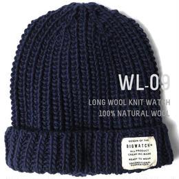 WL-09 ウール100% ロングニットワッチ BIGWATCH ネイビー