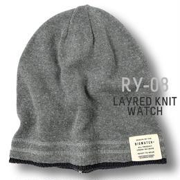 RY-08  レイヤードBIGWATCH グレー/チャコールグレー  【期間限定送料無料】